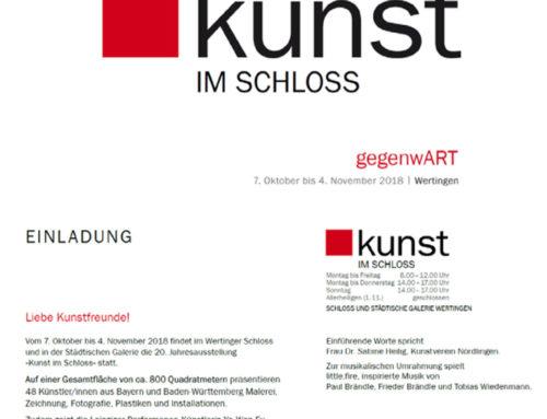 Kunst im Schloß – Ausstellung 2018